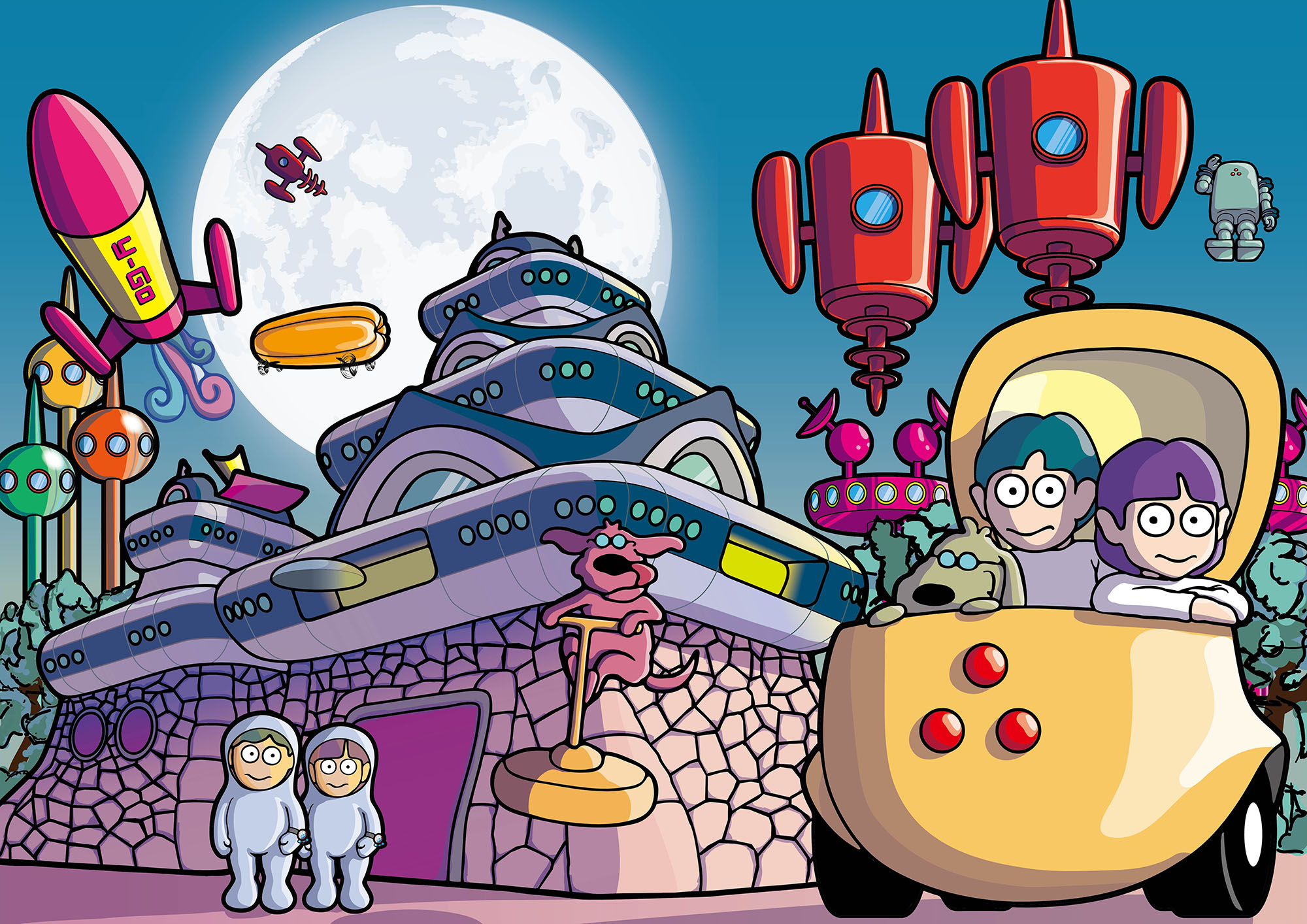 Futureman/未来の熊本城とFuturemanたち