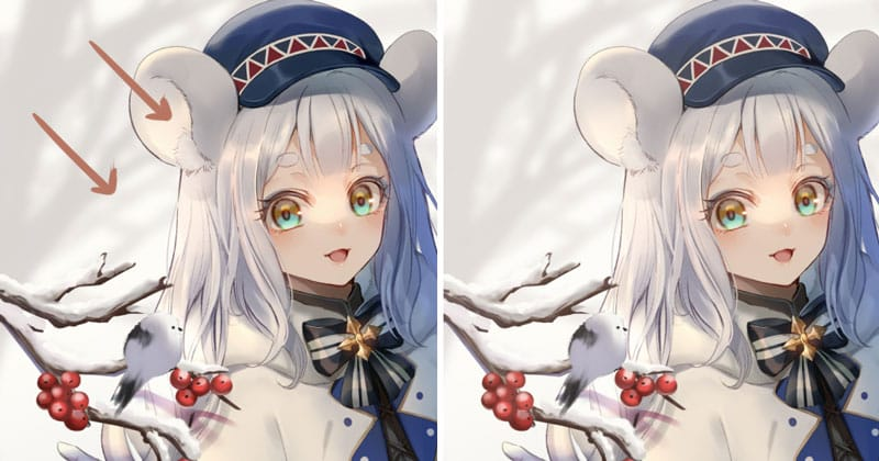 Illustration Making with SAI2 (Mouse Girl in Snow Country)
